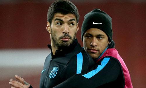 Suarez và Neymar rất thân thiết khi còn chơi chung cho Barca. Ảnh: Marca