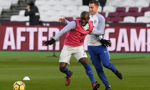 Hazard và Kante là những trụ cột của Chelsea. Ảnh: Reuters.