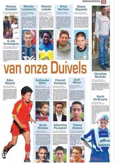 Hazard, De Bruyne, Witsel, Mertens, Lukaku... - những trụ cột của tuyển Bỉ hiện tại - đã chơi cùng nhau trong các lứa trẻ từ năm 2004.