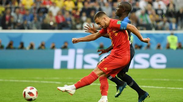 Bỉ khởi đầu trận đấu đầy khí thế với những cơ hội liên tiếp dành cho Eden Hazard. Ảnh:FIFA.