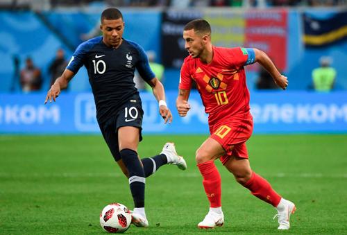 Hazard là cầu thủ chơi hay nhất bên phía Bỉ trong trận thua Pháp.