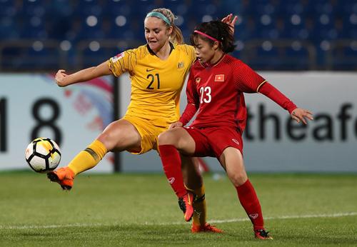 Nữ Việt Nam thua trước lối chơi giàu thể lực của U20 Australia.