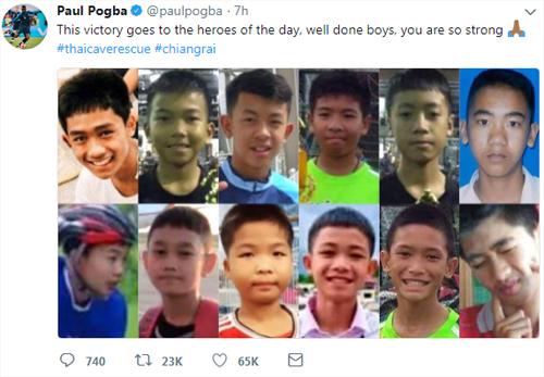 Chia sẻ trên Twitter của Pogba. Ảnh chụp màn hình.