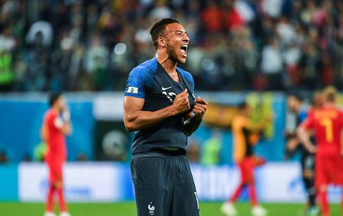Tolisso hạnh phúc sau tiếng còi chung cuộc trận bán kết với Bỉ. Ảnh:Icon Sport.
