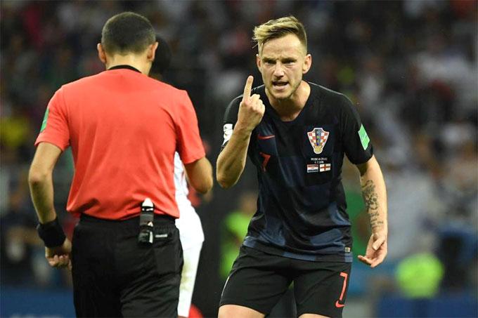 Rakiticvừa hết sốt vẫn đủ sức chiến đấu ở bán kết World Cup. Ảnh:Reuters.