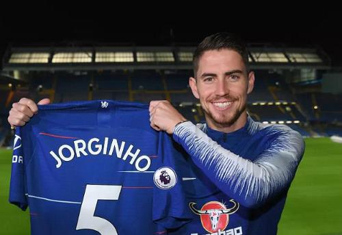 Jorginho là bom tấn đầu tiên của Chelsea trong mùa hè 2018. Ảnh:Chelsea FC.