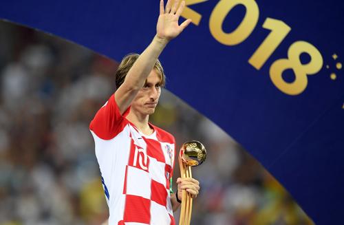 Modric nhận danh hiệu Cầu thủ hay nhất World Cup 2018.