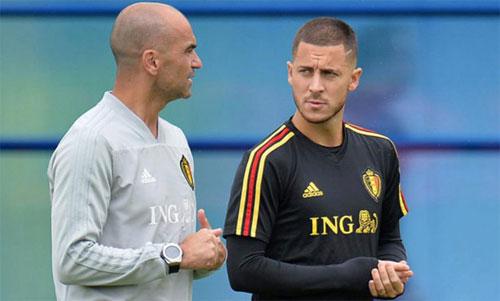 Martinez và Hazard vừa cùng đưa tuyển Bỉ đến huy chương đồng World Cup. Ảnh: Marca