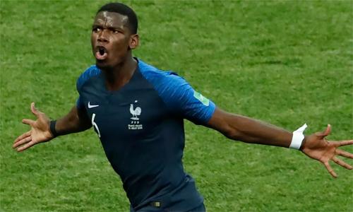 Pogba tỏa sáng ở World Cup, giúp tuyển Pháp sỡ hữu tuyến tiền vệ chắc chắn. Ảnh: Reuters.