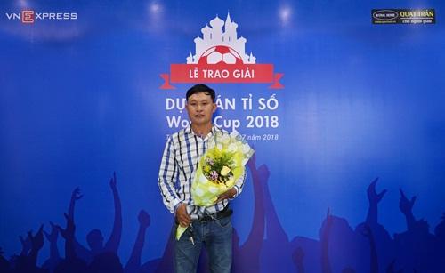 Khán giả Lương Văn Định đoạt giải thưởng lớn nhất khi dự đoán đúng tỷ số trận chung kết giữaPháp và Croatia.