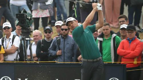Justin Rose cân bằng kỷ lục về số gậy thấp nhất trong một vòng tại Carnoustie. Ảnh:Sky Sports.