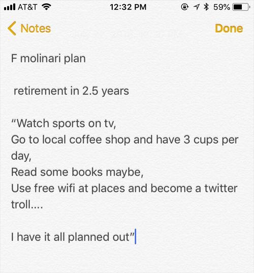 Bản kế hoạch của Molinari.