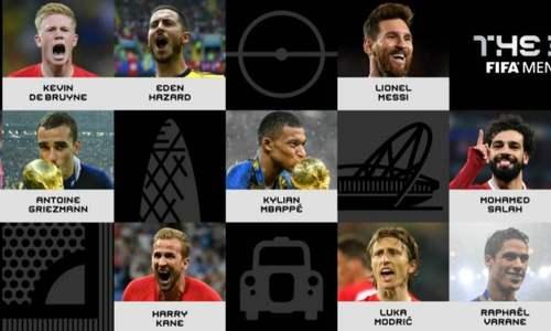 Ronaldo và Messi tranh giải The Best, Neymar bị loại