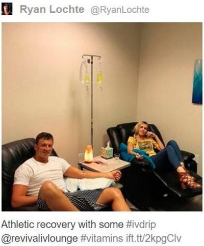 Bức ảnh Ryan Lochte khoe trên mạng xã hội khiến anh sau đó phải nhận án phạt cấm thi đấu từ USADA. Ảnh: BBC.
