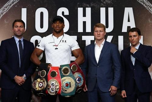 Joshua hiện tập trung cho trận bảo vệ đai WBA với Povetkin. Ảnh: PA.