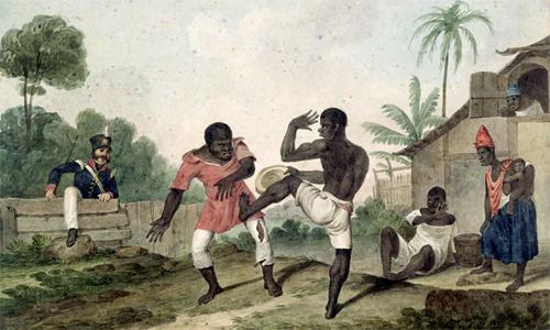 Xuất phát từ môn võ của những nô lệ, Capoeira đã trở thành nguồn cảm hứng để bóng đá Brazil làm nên lối chơi mỹ cảm, ngẫu hứng.