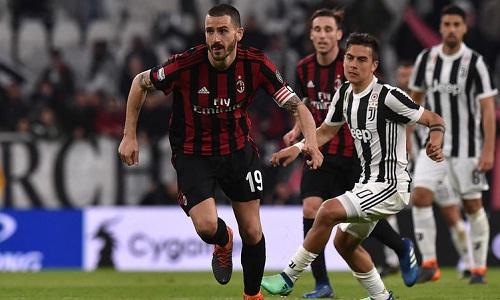 Bonucci có thể trở lại Juventus sau một mùa khoác áo Milan. Ảnh: EPA.