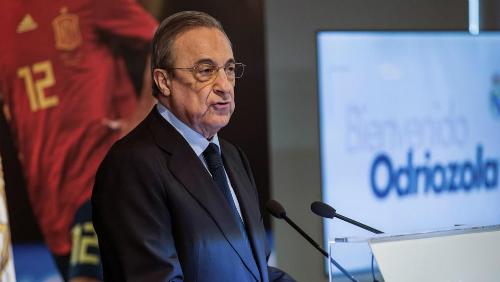 Chủ tịch Real Florentino Perez. Ảnh:EFE.
