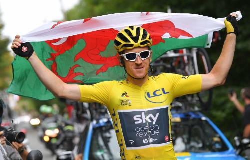 Thomas trở thành tay đua xứ Wales đầu tiên vô địch Tour de France. Ảnh: TdF.