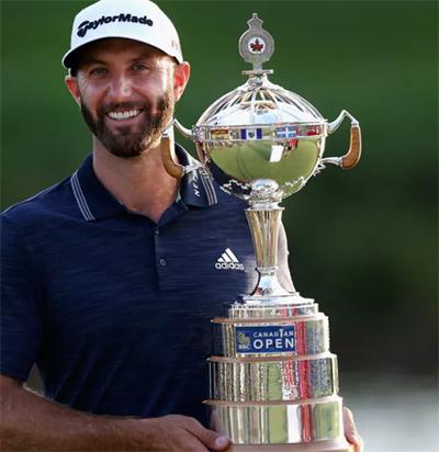Johnson qua mặt Tiger Woods, trở thành golfer giàu thành tích nhất PGA Tour một thập kỷ qua. Ảnh: PGA Tour.