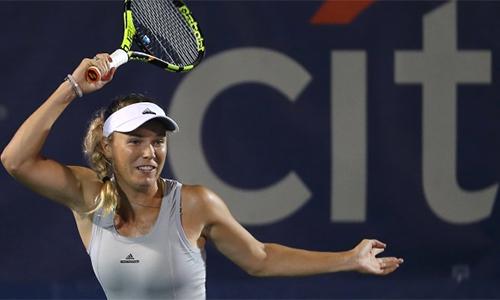 Wozniacki tham gia Citi Open, dù cô sẽ chỉ nhận 280 điểm thưởng và 43.000đôla nếu vô địch. Ảnh: TNS.
