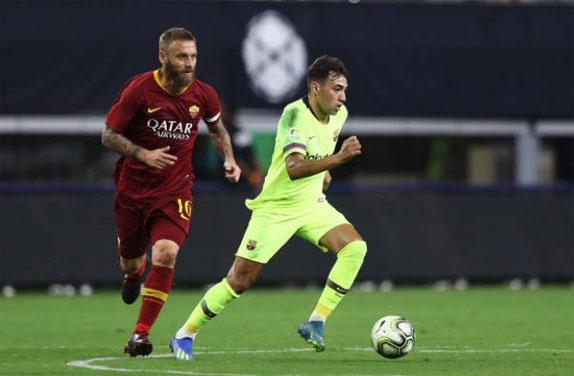 Dàn cầu thủ dày dạn kinh nghiệm như De Rossi không dễ chịu thua đội hình trẻ của Barca.