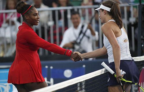 Serena chỉ thắng một game trước Konta hôm 31/7. Ảnh: Reuters.