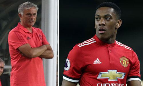 Mourinho nổi nóng với sự vô kỷ luật và thiếu chuyên nghiệp của Martial.
