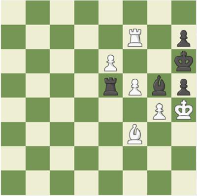 Đen vẫn hòa nếu Carlsen đi theo hướng sau:56... Bc5! 57. Rxf6+ Kg7 58. Rf7+ Kh6 59. Bf3 Be3 60. g4 Bg5+. Thế cờsau nước 60 ở hình trên.