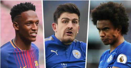 Những mục tiêu theo đuổi của Man Utd là Yerry Mina, Harry Maguire và Willian. Ảnh:AFP.