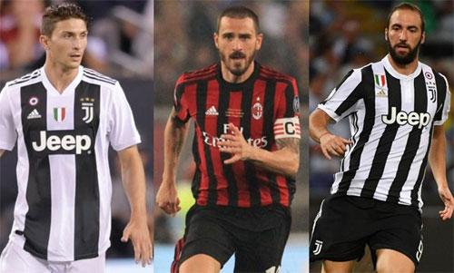 Juventus thực hiện ba vụ trao đổi liên tiếp với AC Milan.