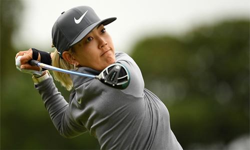 Bàn tay phải của Michelle Wie được băng bó trong suốt thời gian thi đấu. Ảnh: LPGA.
