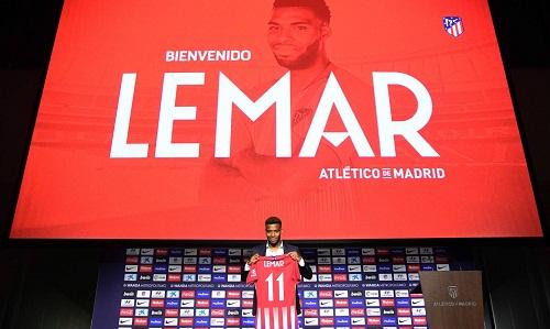 Lemar là bản hợp đồng đắt giá nhất đến thời điểm này của La Liga. Ảnh: Atletico Madrid.