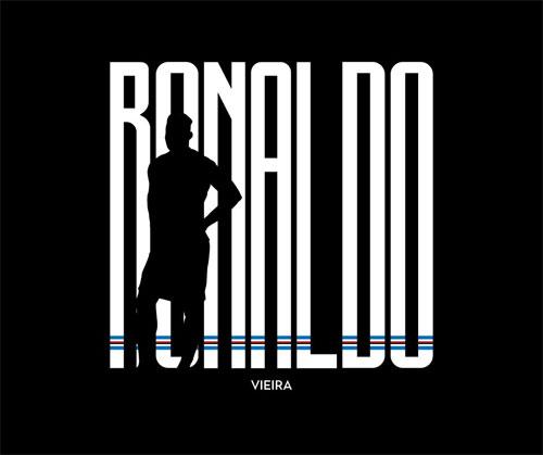 Ảnh đen trắng thông báo việc Sampdoria chiêu mộ Ronaldo Vieira.