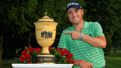 [Caption]Justin Thomas nhận 1,7 triệu đôla tiền thưởng và 74 điểm thưởng trên bảng thứ bậc golf thế giới. Ảnh: Golf Channel.