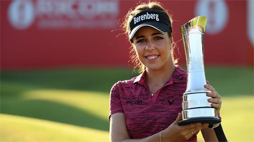 Georgia Hall giành danh hiệu major đầu tay ở tuổi 22. Cô nhận 504.000 đôla tiền thưởng và 100 điểm trên bảng thứ bậc golf thế giới. Ảnh: LPGA Tour.