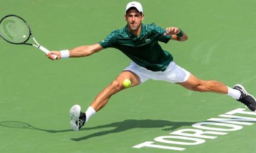 Djokovic hướng đến danh hiệu thứ năm tại Toronto. Ảnh: Icon Sportwire.