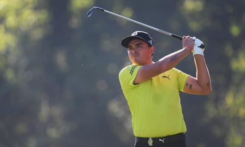 Rickie Fowler đứng thứ hai với khoảng cách một gậy so với đỉnh bảng của Gary Woodland. Anh từng xếp T3 tại PGA Championship cách đây bốn năm. Ảnh: Golfweek.