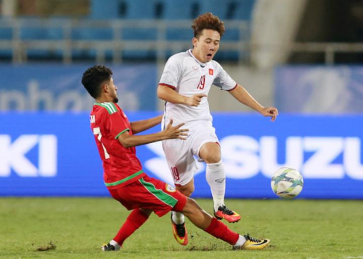Minh Vương chơi không nổi bật trong trận Việt Nam thắng Oman 1-0 ngày 5/8.