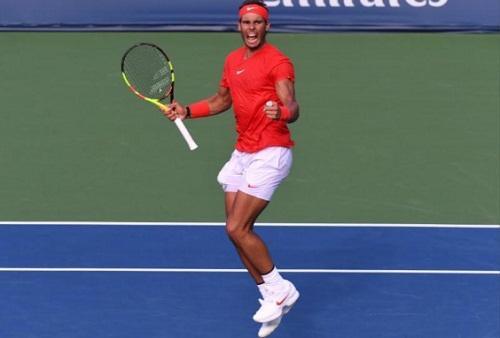 Nadal giành danh hiệu đầu tiên trên mặt sân cứng trong năm nay. Ảnh: USA Today.