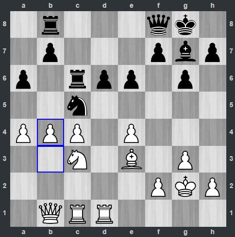 Quang Liêm đẩy tốt b4 ở nước 28. Thoạt nhìn nếu Đen dùng tượng ăn mã trắng, sẽ bắt thêm được tốt ở a4. Nhưng hạt giống số một không dễ mắc sai lầm chiến thuật cơ bản như vậy.