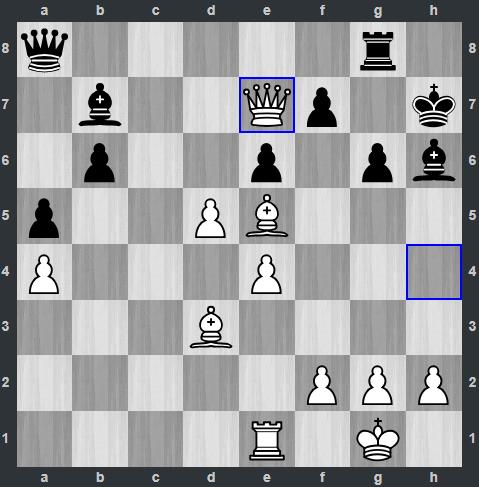 Trắng vừa dùng Hậu ăn xe ở nước 31, đe dọa luôn điểm f7. Với sự hỗ trợ từ tốt trắng ở d5, Salem đã gần chiến thắng. Quang Liêm cố gắng chống trả, đến nước 39 thì đầu hàng.