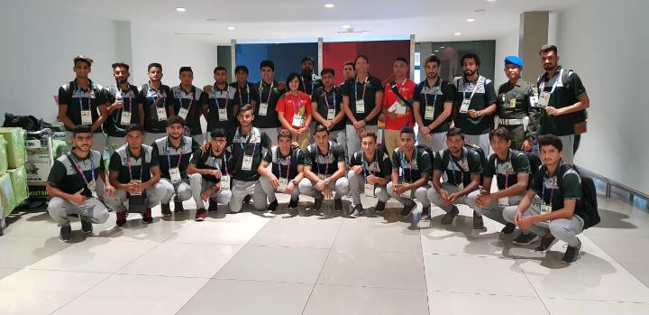 Đội hình Pakistan dự bóng đá nam Asiad 2018. Ảnh: PFF.