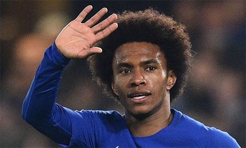 Willian suýt chào tạm biệt Chelsea trong hè 2018. Ảnh: Reuters