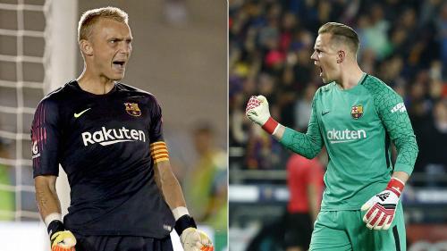 Cillessen không chấp nhận ngồi dự bị cho Ter Stegen và đây là mùa giải quyết định ở Barca. Ảnh:AFP.