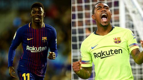 Dembele và Malcom sẽ tạo nên cuộc cạnh tranh khốc liệt để vươn tầm ở Barca. Ảnh:AFP.