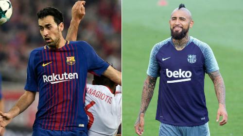 Busquet và Vidal đều là những ngôi sao thành danh và có cá tính lớn. Ảnh:AFP.