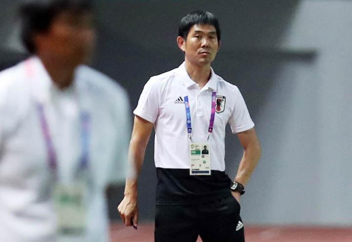 Sau khi cùng đội tuyển Nhật Bản lọt vào vòng 1/8 World Cup 2018, ôngMoriyasu Hajime tới dẫn dắt đội U21 dự Asiad. Ảnh: Đức Đồng