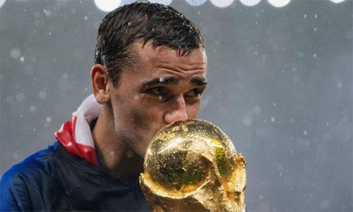 Griezmann và danh hiệu lớn nhất năm 2018: World Cup. Ảnh: Reuters