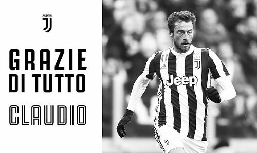 Thông báo chia tay Marchisio của Juventus. Ảnh: Juventus.